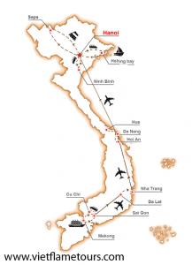route travel in vietnam