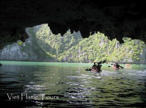 dark cave in halong
